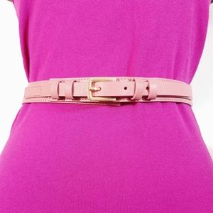 Accessories - Coral pink leather belt